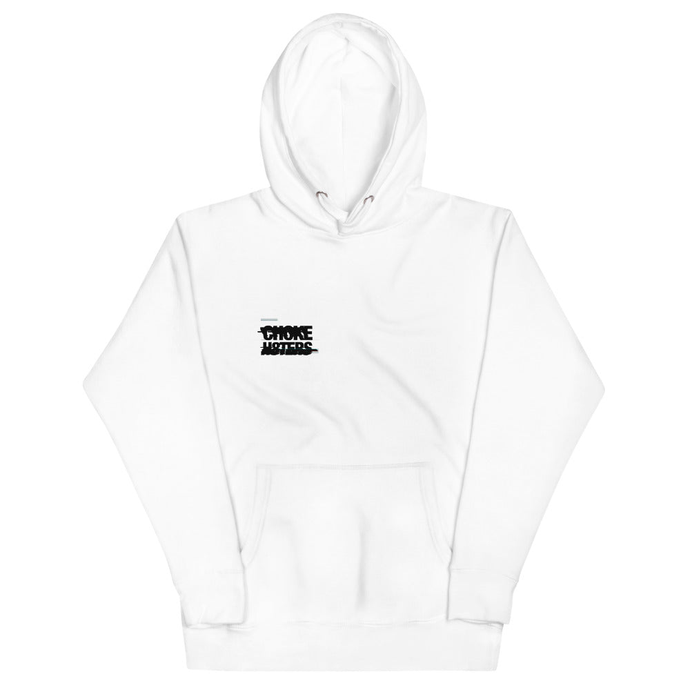 CHOKE H8TERS Glitch & Anarchy Unisex Hoodie in White