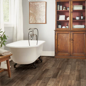"Armstrong Rigid Core Essentials Tuckahoe Hickory ""South Creek Brown"" Luxury Vinyl Plank"