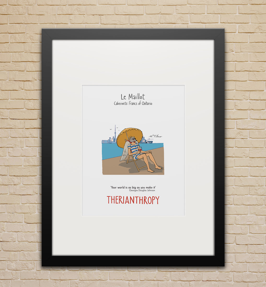 Framed poster (small): Le Maillot