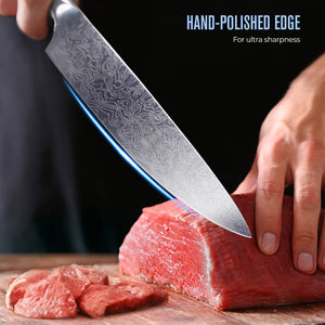 Professional Hand-finish Steel Chef Knife