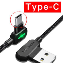 Load image into Gallery viewer, USB Type C Fast Charging Cable for Gaming (Angled at 90 degree)