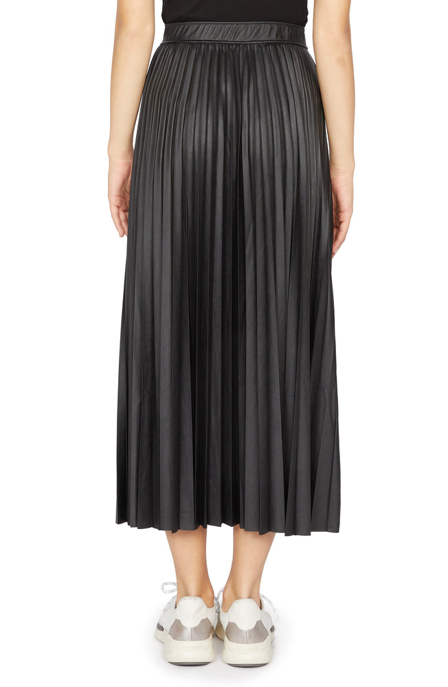 Load image into Gallery viewer, TOP SECRET PLEATED VEGAN LEATHER MIDI