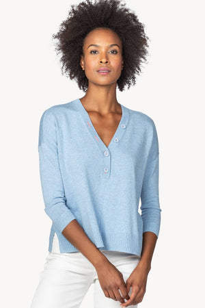 OVERSIZED BUTTON HENLEY SWEATER - NEW!
