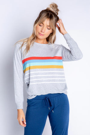 RETRO LOUNGE STRIPE L/S TOP - NEW!