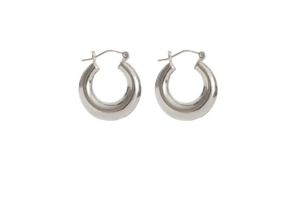 Load image into Gallery viewer, HAILEY HOOP EARRINGS (GOLD & SILVER)