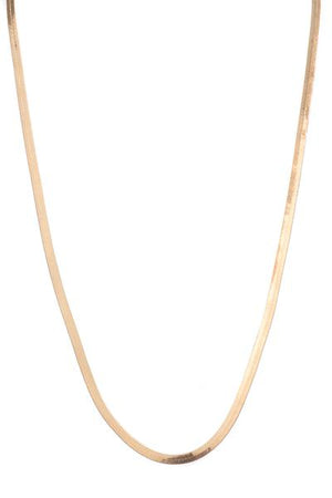 HERRINGBONE NECKLACE (GOLD & SILVER)