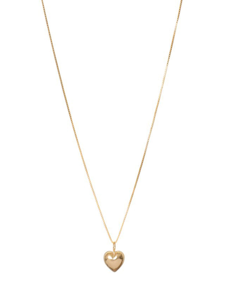 LUCIA PUFF HEART NECKLACE (GOLD & SILVER)