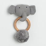 Load image into Gallery viewer, Organic Cotton Rattle Elephant