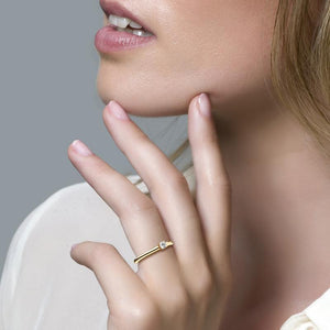 Blush ring met zirkonia