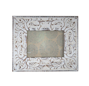 Ornate White Photo Frame