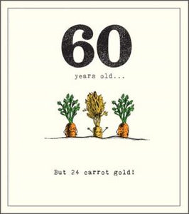 60 Years Old Card