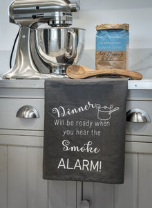 Tea Towel - Grey Dinners Ready