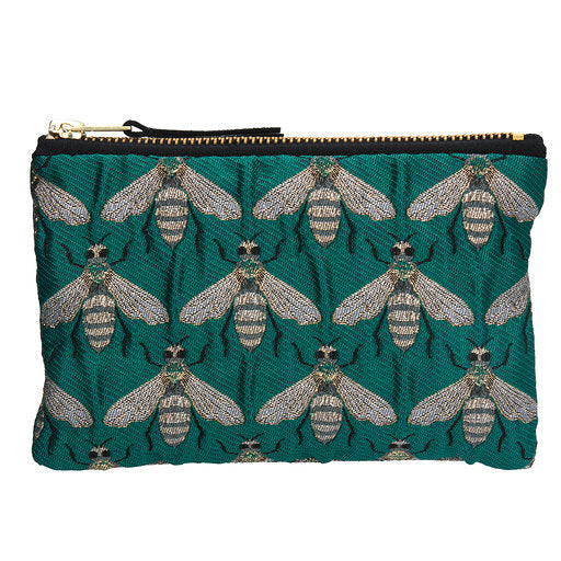 Mini Green Bee Jacquard Purse