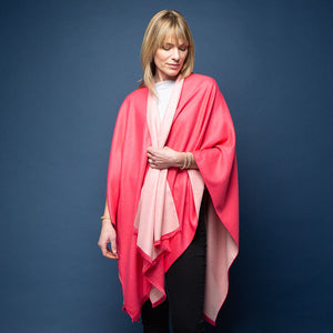 Tess Wrap - Rose/cream