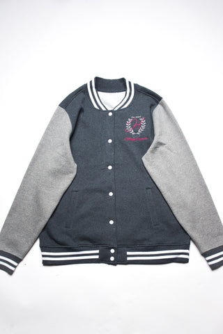 Embroidered Logo Letterman Jacket