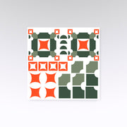 Stickers muraux MUNDO Orange et vert