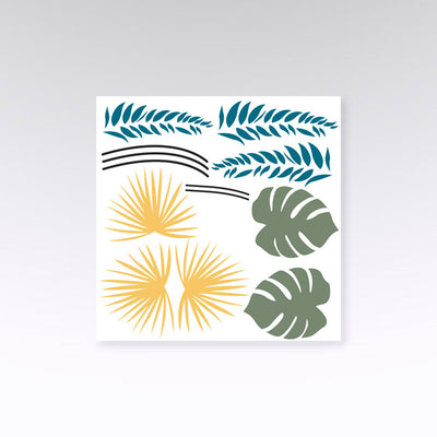 stickers muraux feuillage tropical