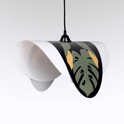 Suspension double ever feuilles tropicales