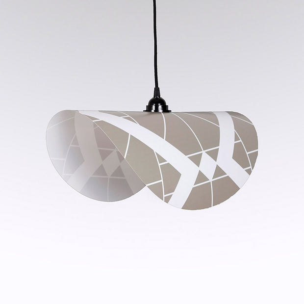 Suspension graphique beige et blanc