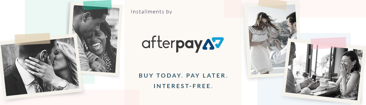 Afterpay. Bashert Jewelry. Buy now. Pay latter. Interest Free.