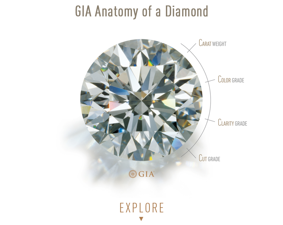 Bashert Jewelry. The 4C's of a diamond. GIA - Anatomy of a Diamond. Learn all about the anatomy of a Diamond. Get expert help from our diamond specialist.