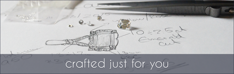 Crafted Just For You. Custom Designed and Crafted Engagement  Rings, Wedding Bands and Fine Jewelry.