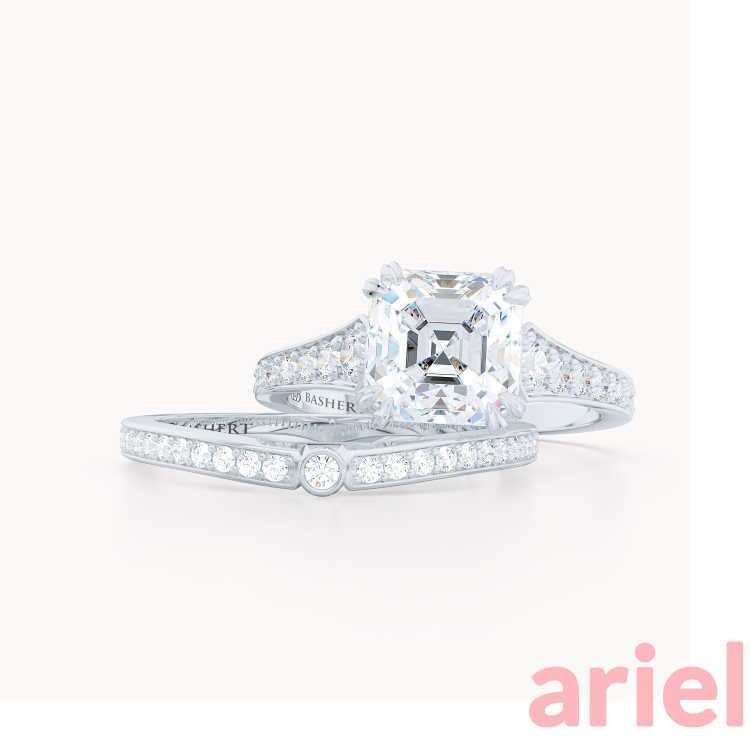 Classic Engagement Rings and Wedding Bands. Diamonds, Moissanites, Lab Diamonds. Ariel. Bashert Jewelry