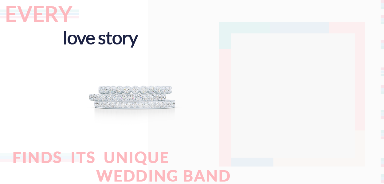 Custom designed and crafted wedding bands. Bashert Jewerly