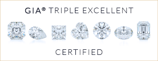 Comprehensive diamond information. Bashert Jewelry Triple Excellent GIA Graded and Certified Diamonds