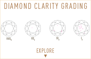Explore Daiamond Clarity grade measuring. Bashert Jewelry. Create Your own engagement ring online