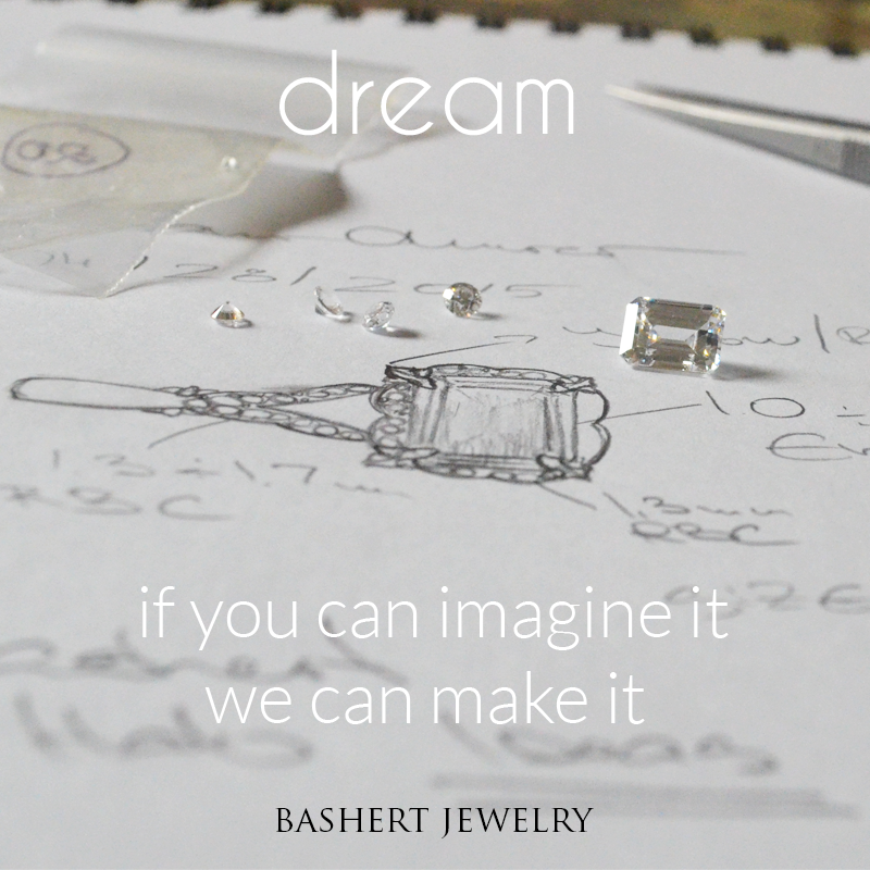 If You can Imagine it - we can Make it! Bashert jewelry Custom Engagement Rings Online