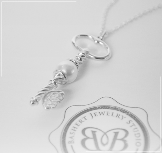 Bashert Jewelry. Custom Key Pendant Necklaces. Collection of Signature, Handcrafted Key Pendants. Free Shipping to USA.