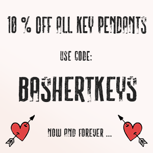 Classic key pendant necklaces for all ages and occasions. Bashert Jewelry. Boca Raton. Florida.