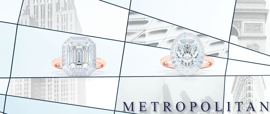 Custom Diamond Engagement Rings collection. Streamlined appeal with bold personality. Create your dream ring online, working directly with our designers and goldsmith. Bashert Jewelry