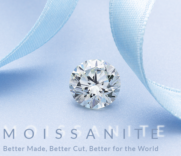 Moissanite. The new choice in the world of lab created gems. Bashert Jewelry