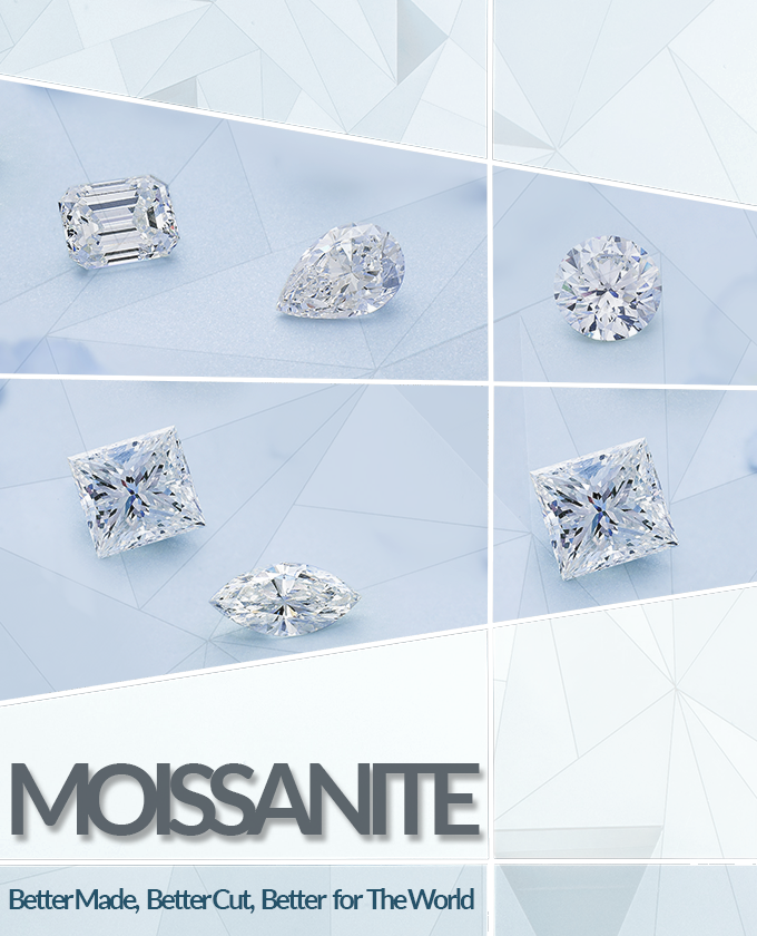 Bashert Jewelry. Moissanite Engagement Ring. Forever One Moissanites by Charles & Colvard.