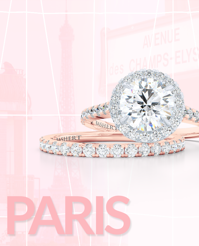 Bashert Jewelry. Paris collection of custom engagement rings and wedding bands online. We deliver excellence .