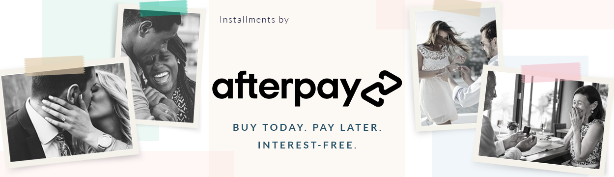 Afterpay. Bashert Jewelry. Buy now. Pay later. Interest Free.
