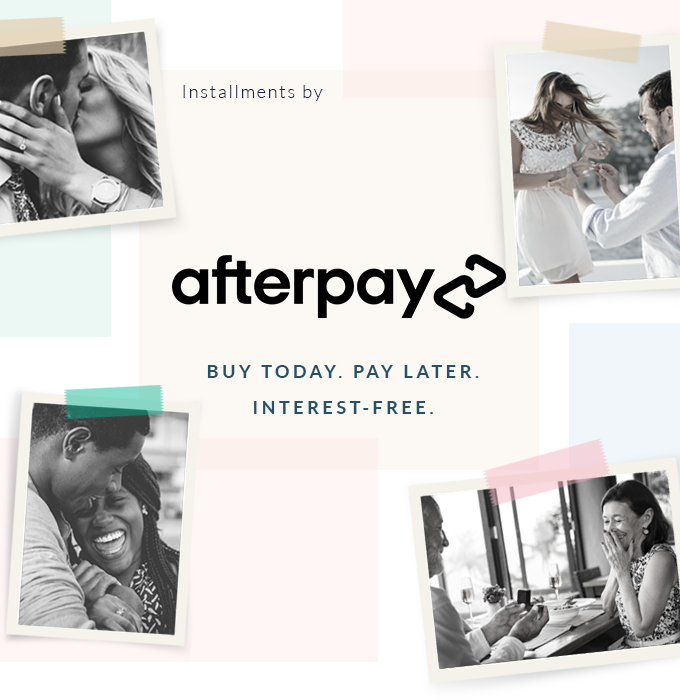 Afterpay. Buy Now. Pay later. Interest Free. Bashert Jewelry