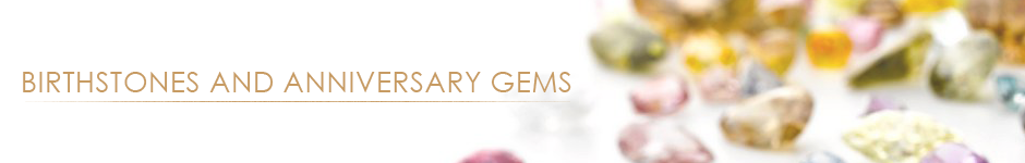 Bashert Jewelry. Birthstones and Anniversary Gems. Color Gems Encyclopedia
