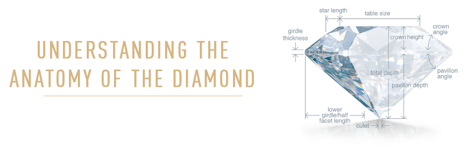 Understanding the anatomy of the Diamonds. Bashert Jewelry