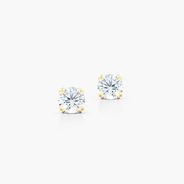 Classic Round Brilliant cut Diamond Stud Earrings. Handcrafted in Classic Yellow Gold. Find The Perfect Pair for Your Budget. Moissanite and Lab-Grown Diamonds options available! Free Shipping on All USA Orders. 30-Day Returns | BASHERT JEWELRY | Boca Raton, Florida.