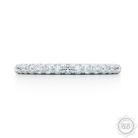 Classic Fishtail Diamond Diamond encrusted Wedding Band.  Handcrafted in Precious Platinum or White Gold. Free Shipping for All USA Orders. 30-Day Returns | BASHERT JEWELRY | Boca Raton, Florida