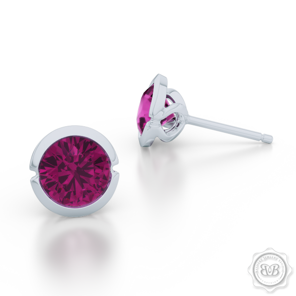 Elegant Design with a Modern Appeal – Mystic Rhodolite Garnet Martini Stud Earrings Handcrafted in Sterling Silver. Find The Perfect Pair for Your Budget. Make it Personal - Choose Your Gemstones! Free Shipping on All USA Orders. 30-Day Returns | BASHERT JEWELRY | Boca Raton, Florida