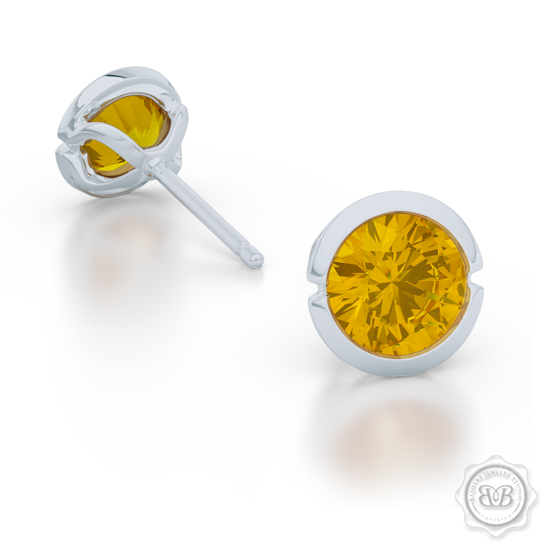 Elegant Design with a Modern Appeal – Martini Stud Earrings Handcrafted in Sterling Silver and Sun-Kissed Citrines. Find The Perfect Pair for Your Budget. Make it Personal - Choose Your Gemstones! Free Shipping on All USA Orders. 30Day Returns | BASHERT JEWELRY | Boca Raton, Florida
