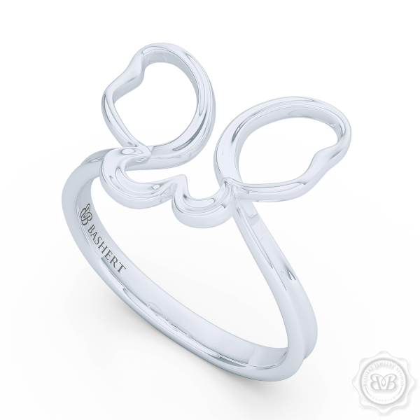 Dainty Open Wings Butterfly Fashion Ring Handcrafted in Sterling Silver or White Gold. Free Shipping USA. 30Day Returns. BASHERT JEWELRY | Boca Raton, Florida