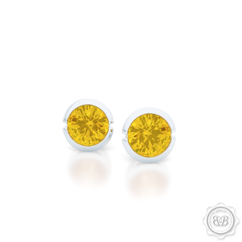 Classic Martini Stud Earrings with a modern twist. Handcrafted in Sterling Silver and Sunny Citrines. Find The Perfect Pair for Your Budget. Make it Personal - Choose Your Gemstones! Free Shipping on All USA Orders. 30-Day Returns | BASHERT JEWELRY | Boca Raton, Florida.