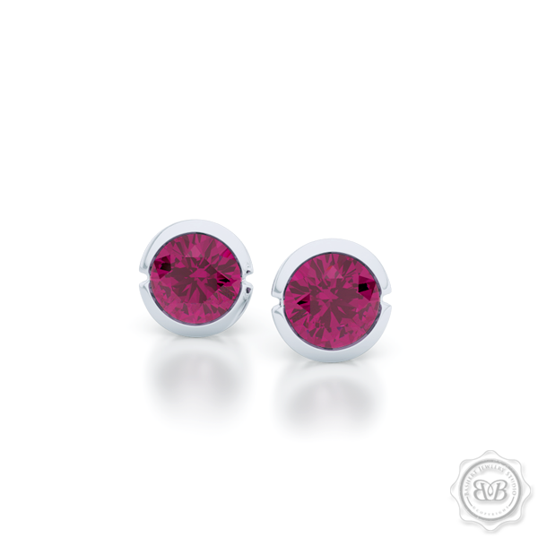 Rhodolite Garnet Martini Stud Earrings Handcrafted in Sterling Silver. Find The Perfect Pair for Your Budget. Make it Personal - Choose Your Gemstones! Free Shipping on All USA Orders. 30-Day Returns | BASHERT JEWELRY | Boca Raton, Florida