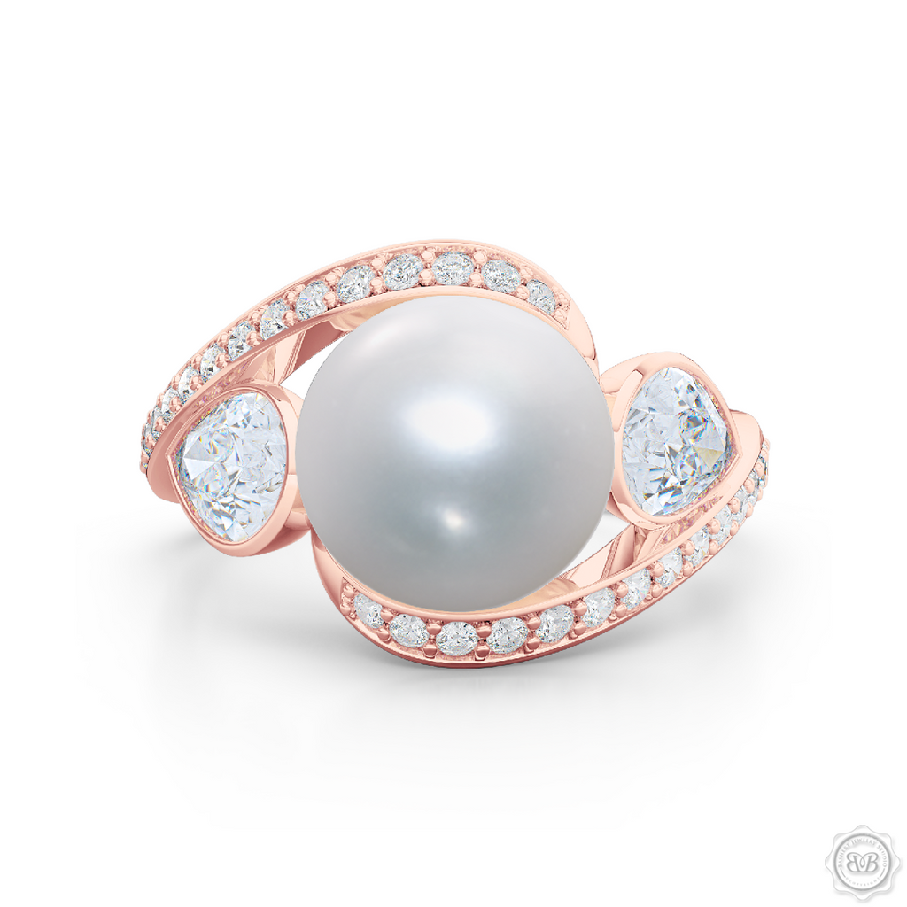 Well known Dazzling Pearl Engagement Ring | BASHERT JEWELRY - Bashert Jewelry NC35