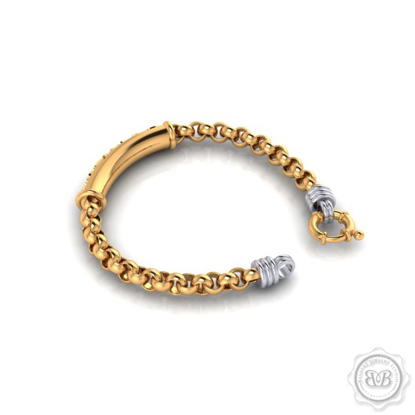 Custom Yellow Gold Bashert Bracelet. Bashert Jewelry. Boca Raton, Florida